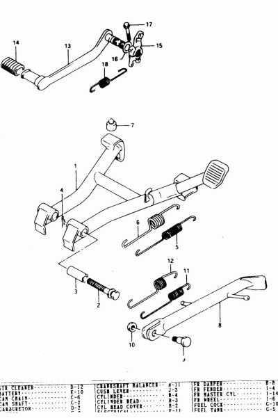 suzuki schema moteur mecanisme