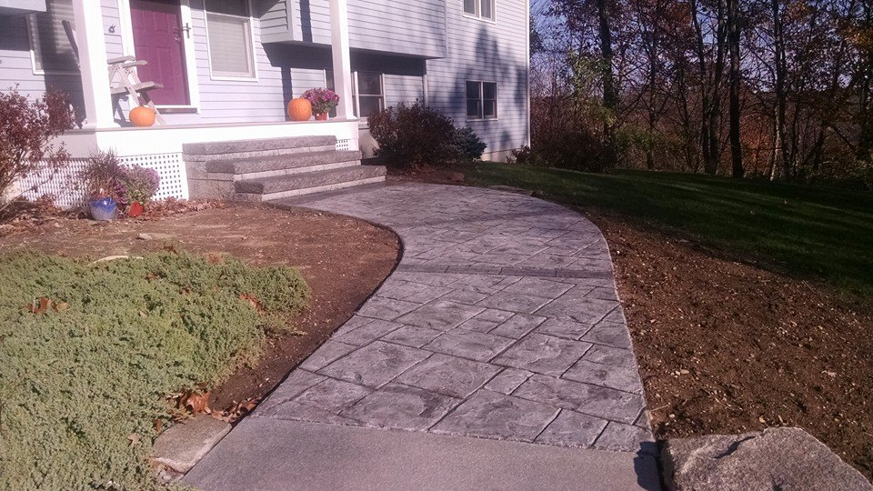 Concrete Countertops Cost Gs Flatwork, Llc - Decorative Stamped Concrete Walkways