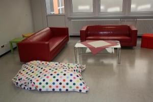 Ruhezone in der Bibliothek