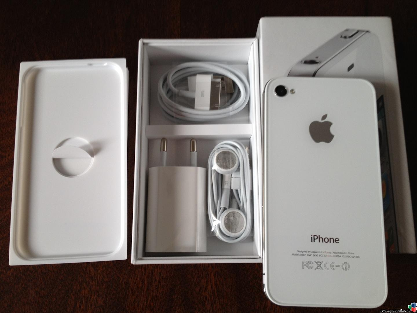 Venta De Moviles Libres Iphone Vendo Iphone 4s 16 Gb Blanco Libre De Origen Factura Y