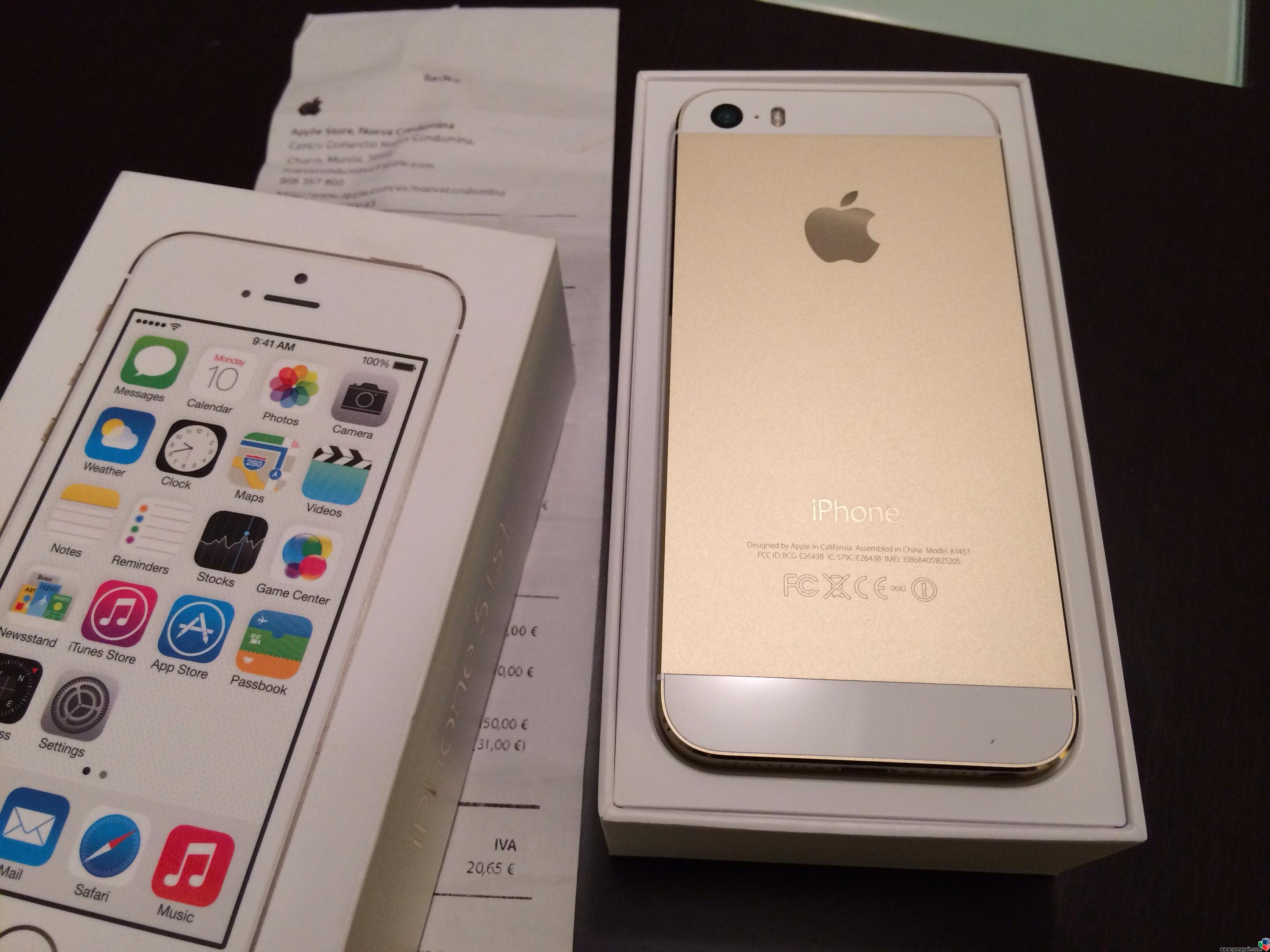 Iphone 5s Libre Nuevo Vendo Iphone 5s Gold 16 Gb Libre Con Ticket Applestore