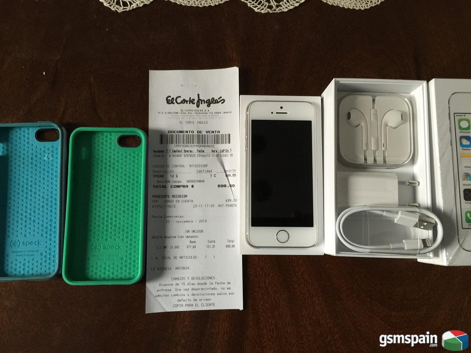Precio De Iphone 5s Libre Vendo Iphone 5s 16gb Plata Libre Factura El Corte Ingles