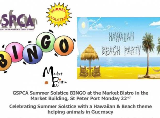 GSPCA Summer Solstice Hawaiian  Beach theme BINGO at the Market