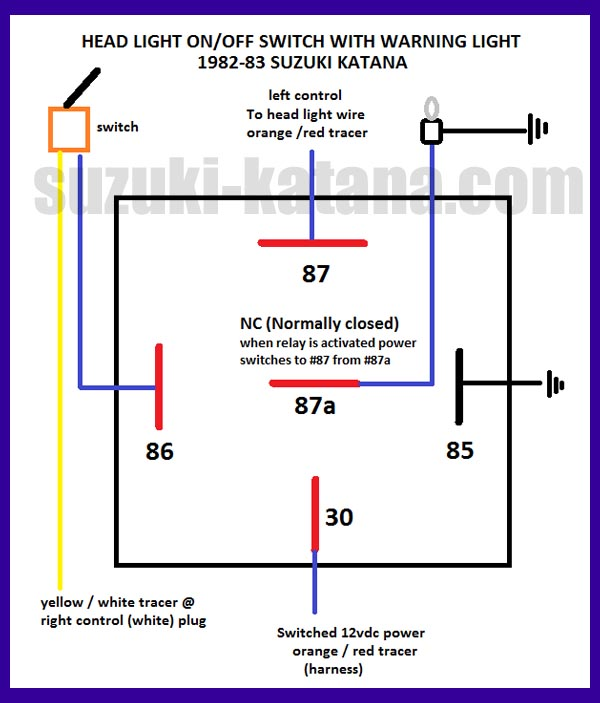 Harley Starter Relay Wiring Diagram On Wiring Diagram 86 87 85 30