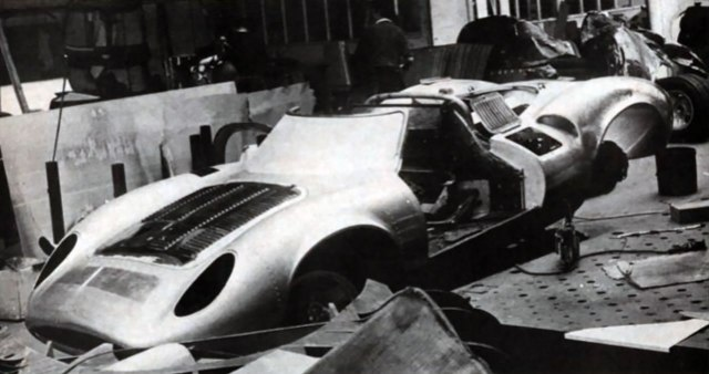 The XJ13 during its restoration at Abbey Panels.