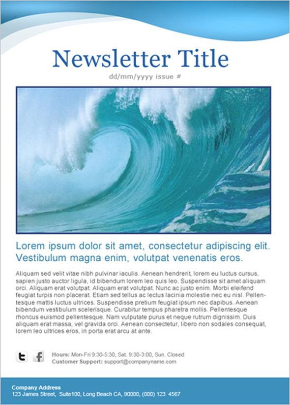 25 Best Free Newsletter Templates for the Current Year GT3 Themes