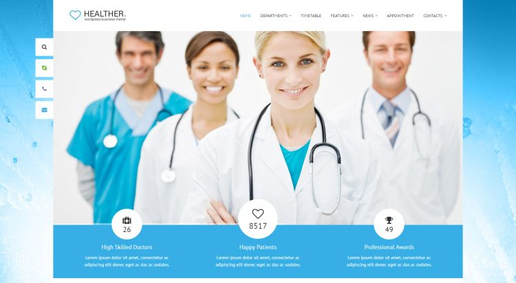 Medical and Health WordPress Themes for February 2017 GT3 Themes