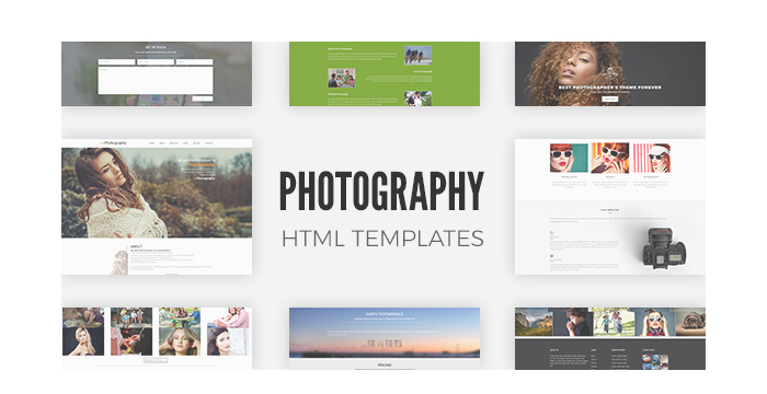Photography HTML Templates (Free and Premium Versions) 2017 GT3 Themes