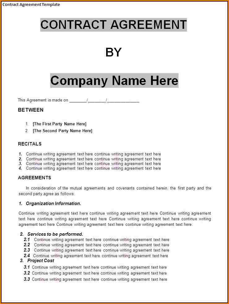 Business Contract Agreement gtld world congress - business contract example