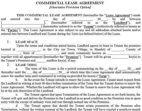 Commercial Property Lease Agreement gtld world congress