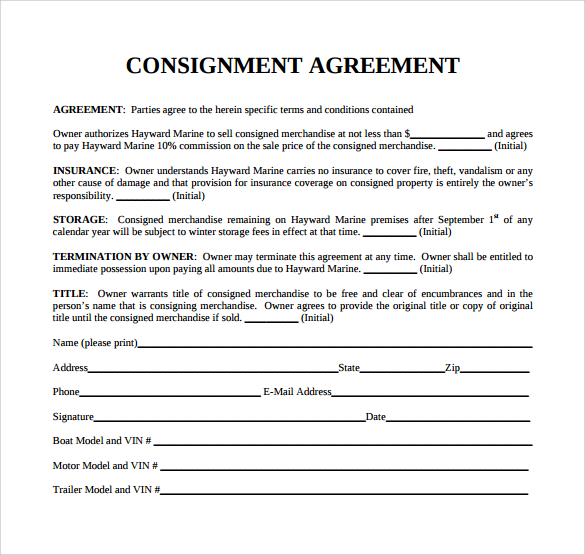 Consignment Agreement Form gtld world congress