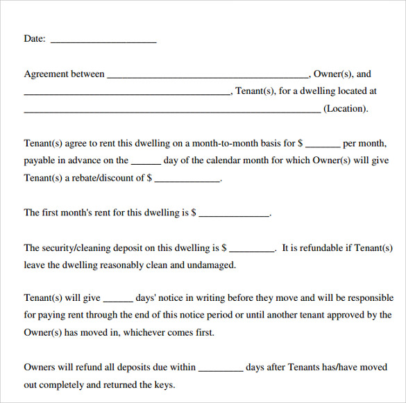 Free Printable Lease Agreement gtld world congress - blank lease agreement example