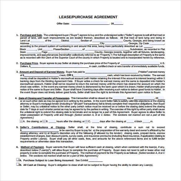 Lease Purchase Agreement gtld world congress