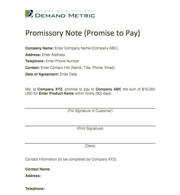Promise To Pay Agreement gtld world congress