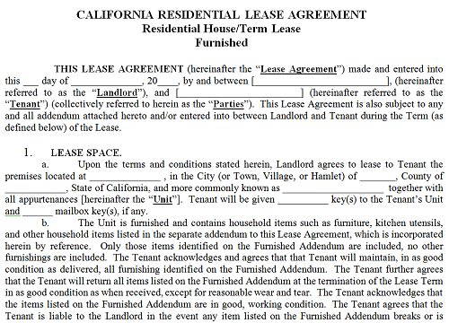 Rental Lease Agreement California gtld world congress