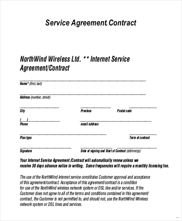 Service Agreement Contract Template gtld world congress