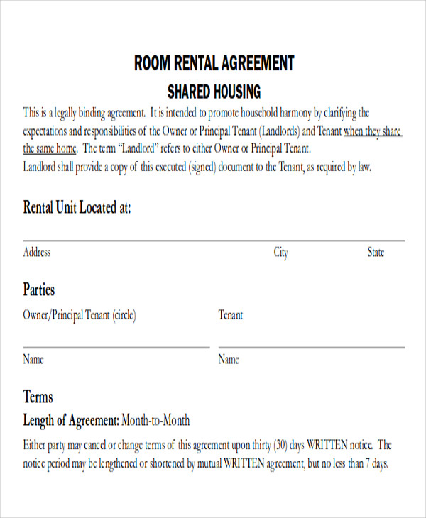 Simple Room Rental Agreement Form Free gtld world congress - free simple lease agreement template