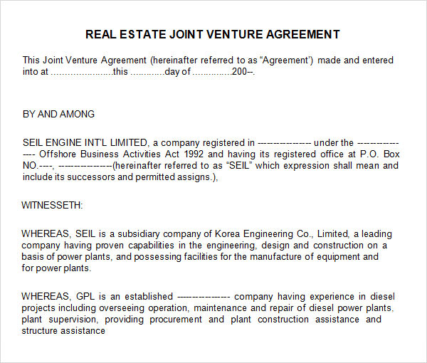 Real Estate Partnership Agreement gtld world congress