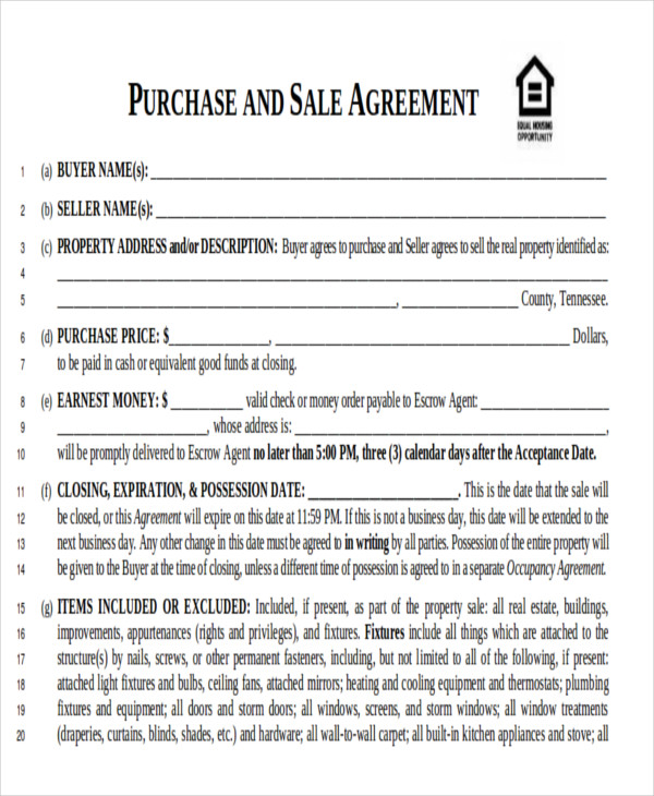 Real Estate Bill Of Sale Contract