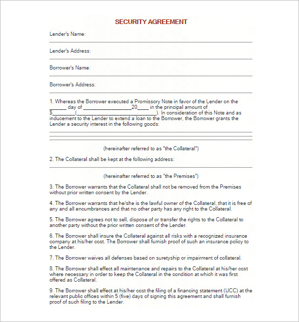 Security Agreement For Promissor Note gtld world congress