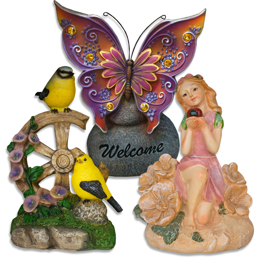 Welcome Statues Garden Home Garden Springtime Statues Figurines Gtm Discount