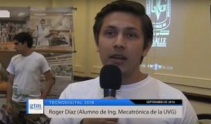 """Roger Díaz, """"con la mecatrónica se pueden hacer cosas muy chileras"""""""