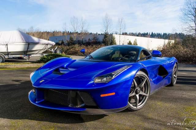 Fixed Gear Wallpaper Iphone Stunning Blue Ferrari Laferrari In Washington Gtspirit