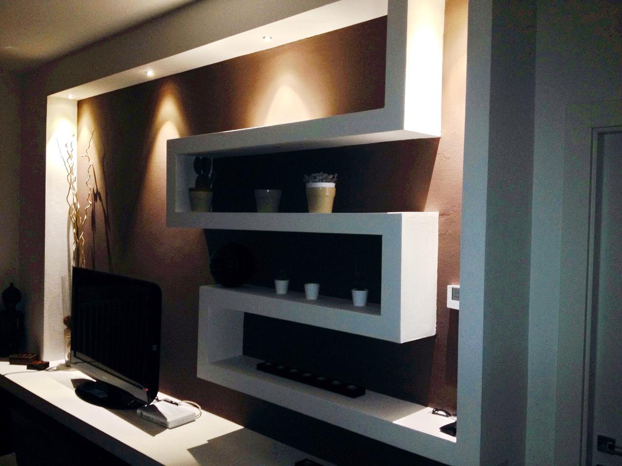 Illuminazione soggiorno con cartongesso soggiorno con