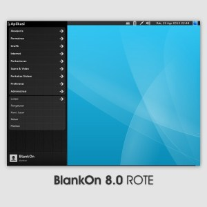 BlankOn Linux 8 Rote Desktop Menu