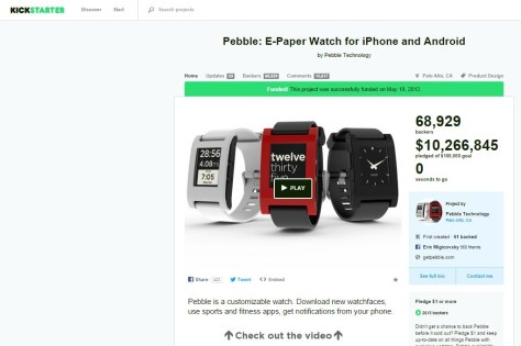 Pebble Smartwatch (Kickstarter)