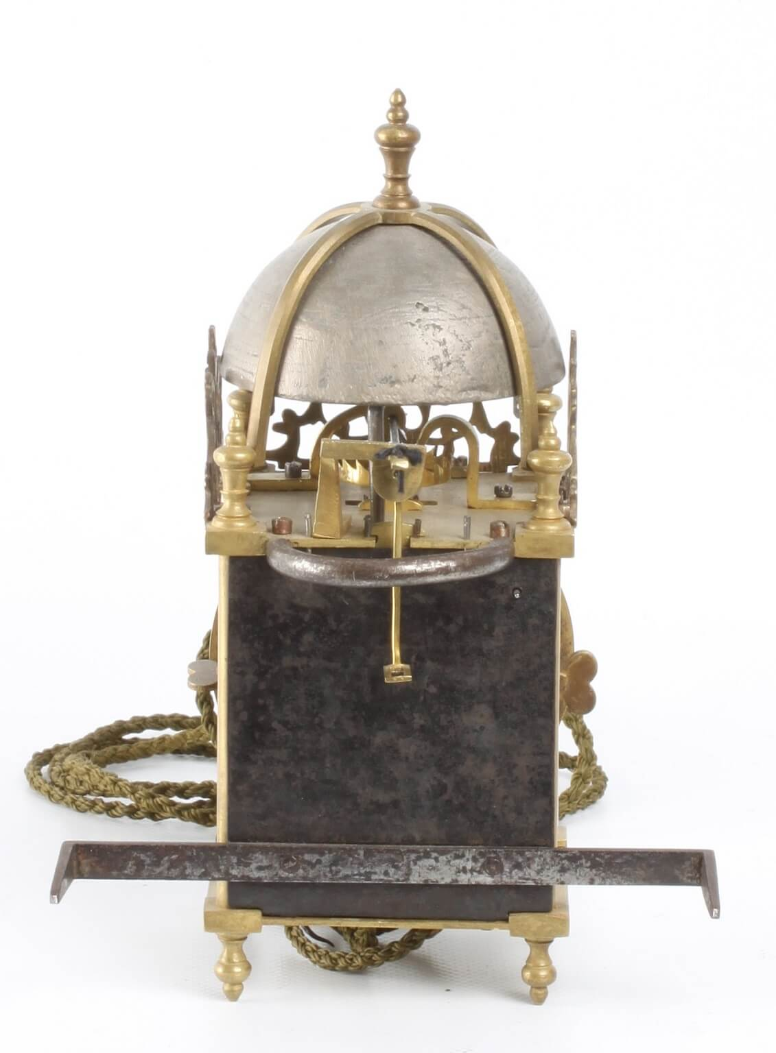 Mantel Height A Miniature French Brass Alarm Lantern Wall Timepiece