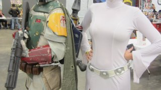 Boba Fett and Princess Leia