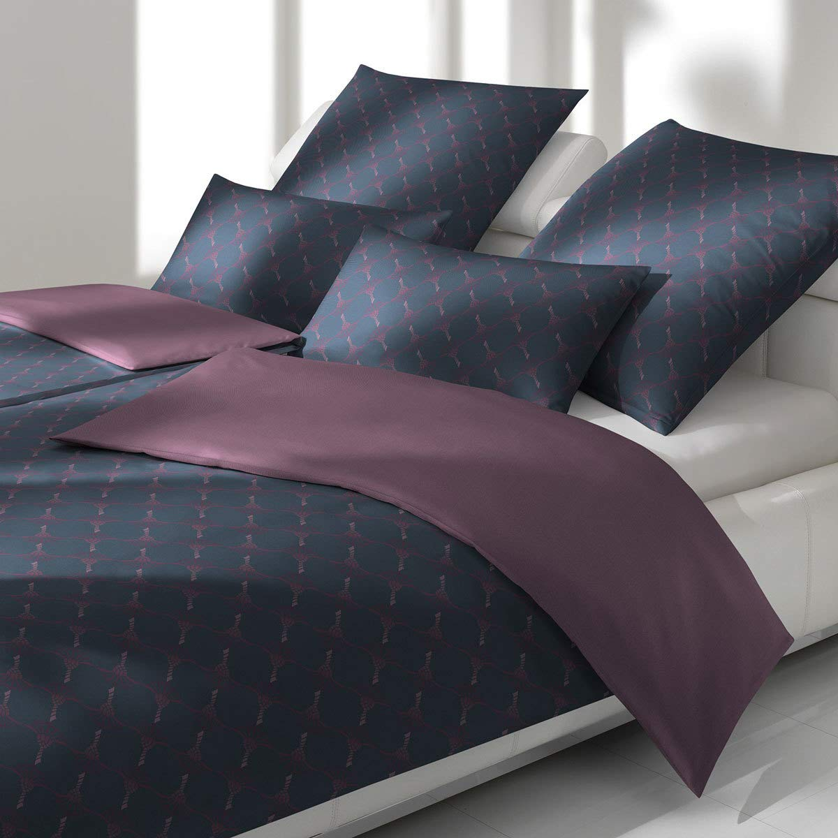JOOP! Bettwäsche Cornflower Double 4083-05 Midnight Purple 155x220 cm