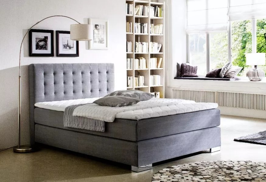 Boxspringbett Your Home Boxspringbett 120200 Grau Kerryskritters
