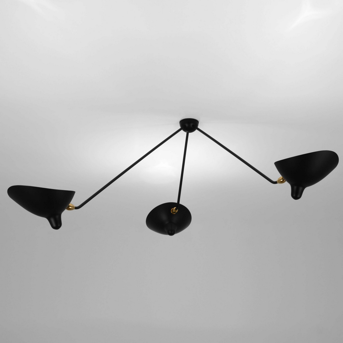 Arm Lamp Serge Mouille Spider Ceiling Lamp 3 Arms Mcl Sp3