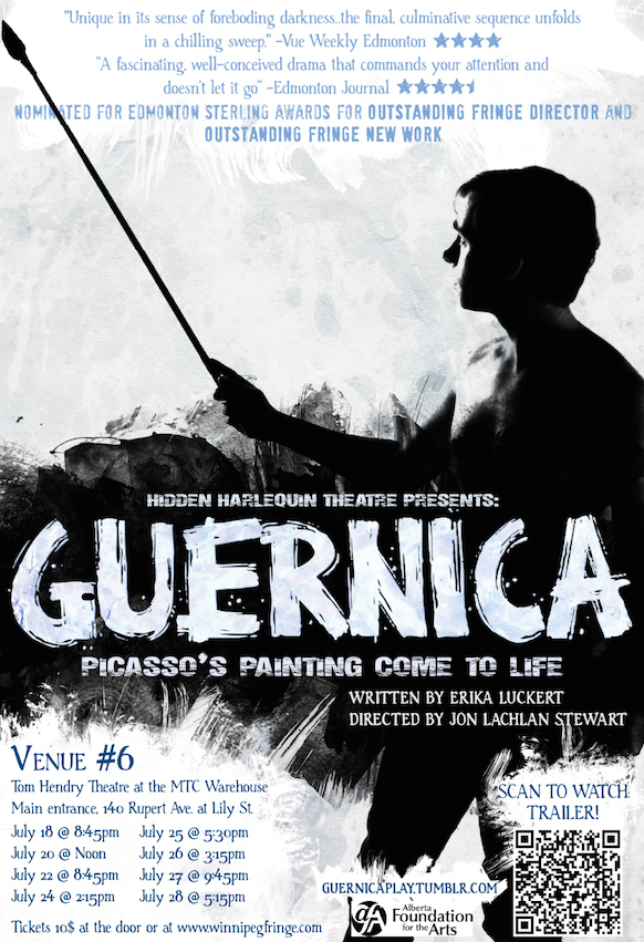 Guernica tour poster, 2012. Courtesy of Perry Gratton & Erika Luckert.