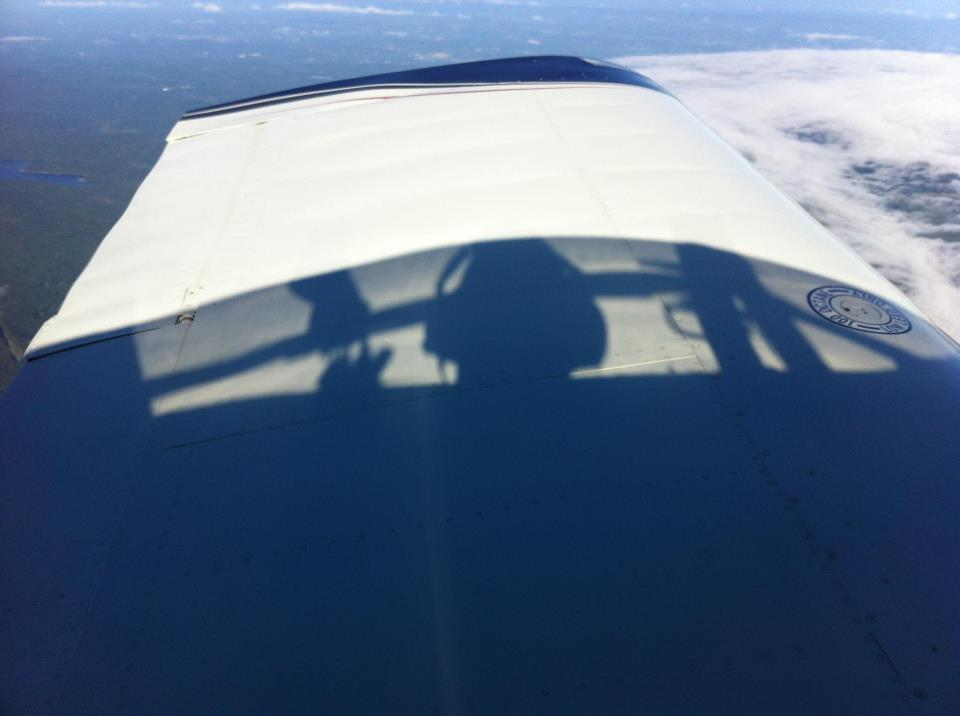 Super cool shadow of the Pilot!
