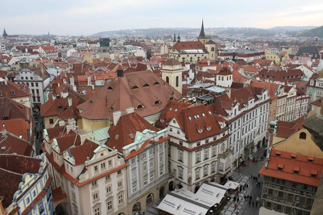 Prague Red Roof Tops
