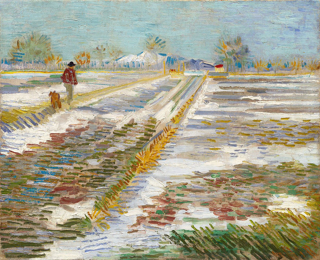Vang Gogh Cuadros Landscape With Snow