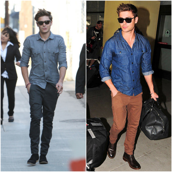 Zac Efron Camisa Casual