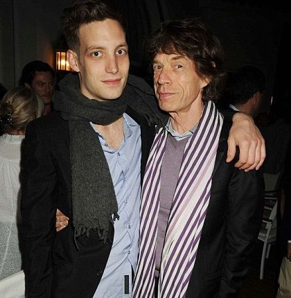 James e Mick Jagger