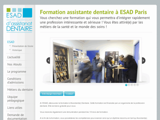 cv assistante dentaire esad