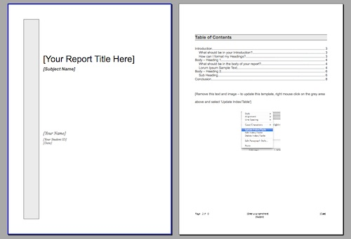 Hey Students! Need a free report and essay template? Free download