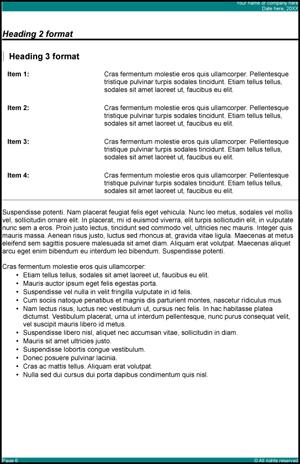 Report Template OpenOffice Writer \u2014 Guide 2 Office