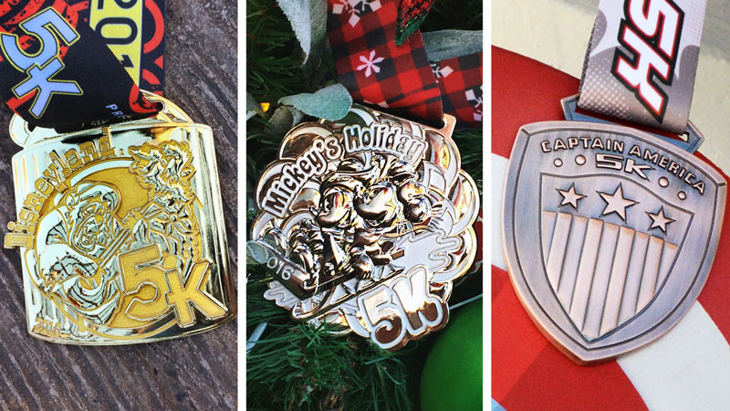 runDisney 5K racers can show their mettle with new metal medals