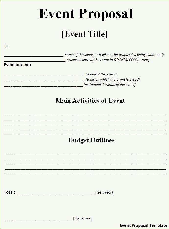 how to make proposal for event