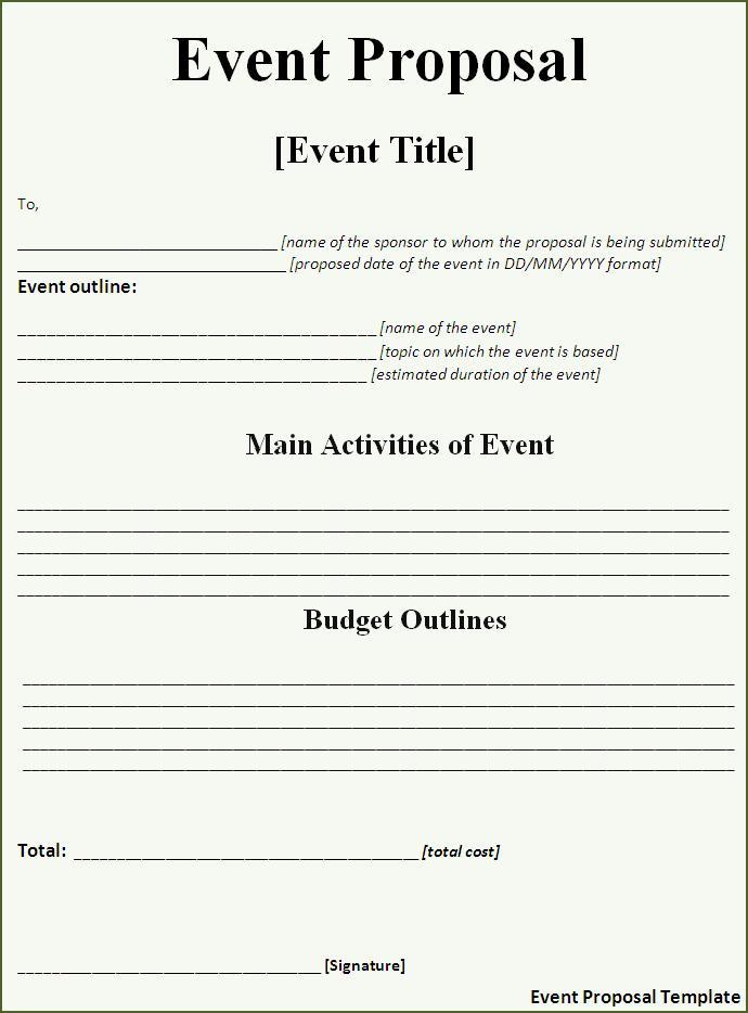 wedding planner proposal template