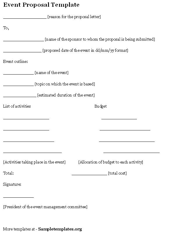 Craft A Perfect Event Proposal Template Now Guidebook - proposal for event