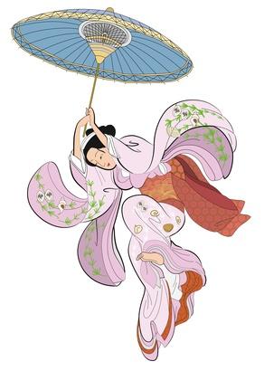 Gesisha et son ombrelle