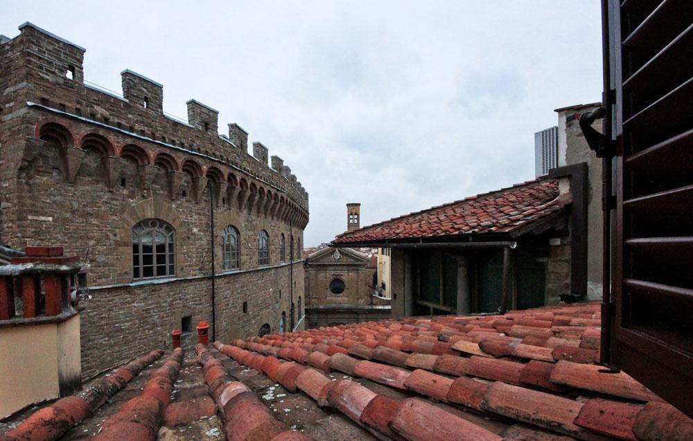 Une vue des toits